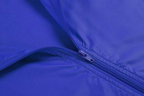 Tomasa Donna Giacca Impermeabile Super Leggero con Cappuccio Funzionale Blu reale