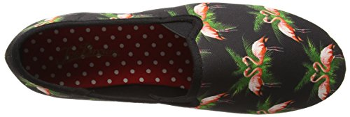 Joe Browns - Funky Flamingo Espadrilles, Scarpe col tacco Donna Black (Black Multi)