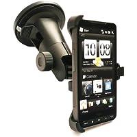 Emartbuy Premium-Multi Angle Car Kit für HTC HD2 - Beinhaltet Made To Saughalter, Kompatibel Micro USB-Autoladegerät und displayschutz Messen