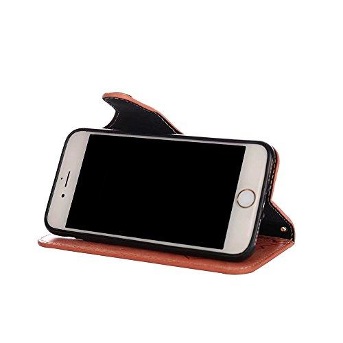 JIALUN-Telefon Fall Für IPhone 7/8, mit Umhängeband, magnetische Schnalle Die Rosen öffnen das Telefon Shell ( Color : Pink ) Pink