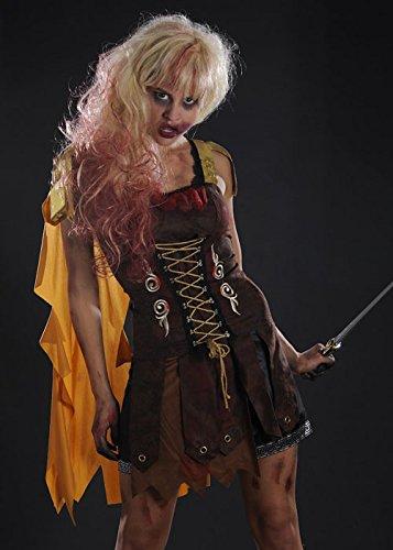 bie Römisches Gladiator Kostüm Large (UK 16-18) (Womens Römischen Halloween Kostüme)