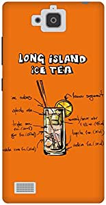 The Racoon Lean Orange Long Island Iced Tea hard plastic printed back case / cover for Huawei Honor 3C