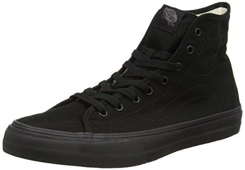 Vans - U Sk8-Hi Decon, Alte Scarpe Da Ginnastica, unisex Nero (Black (Canvas - Black/Black))