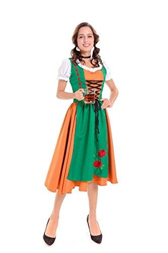 Les costumes de Halloween Halloween costumes classiques _ Allemand Oktoberfest beer bar vêtements Vêtements de travail hommes et femmes,serveur,XL modèles féminins