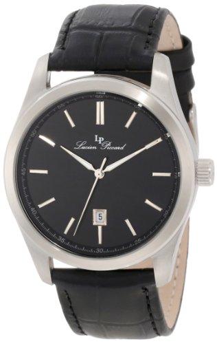 Lucien Piccard 11568-01 - Reloj para hombres, correa de cuero