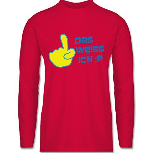 Symbole - Das weiß ich - Longsleeve / langärmeliges T-Shirt für Herren Rot