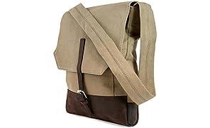 CAUSEGEAR Messenger Bag Taupe Canvas