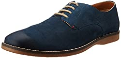 Ruosh Mens Blue Leather Boots - 8 UK/India (42 EU)