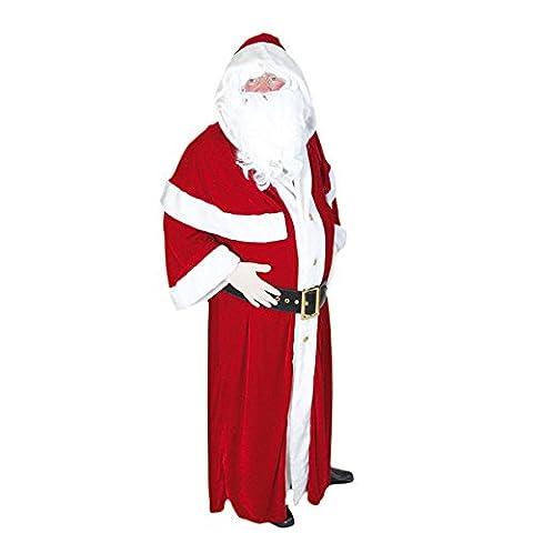 Déguisement du Père Noël Européen Luxe (Standard - Taille unique