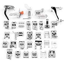 32Pcs Kit de pies prensatelas máquina de coser accesorios pie diferente para máquina ...