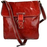 7ed52d312 Bolso bandolera de cuero bolso espalda bolso hombre piel bolso de cuero  rojo bolso de espalda