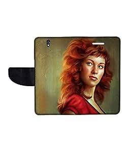 KolorEdge Printed Flip Cover For Sony Xperia Z Multicolor - (50KeMLogo10761XperiaZ)