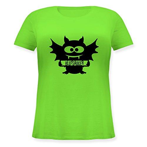 us - L (48) - Hellgrün - JHK601 - Lockeres Damen-Shirt in großen Größen mit Rundhalsausschnitt ()