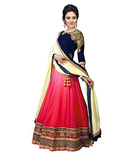 Women's Exclusive Designer Party Wear Collection Todays Best Lower Price Offer Net Blue Colored Anarkali Dress...