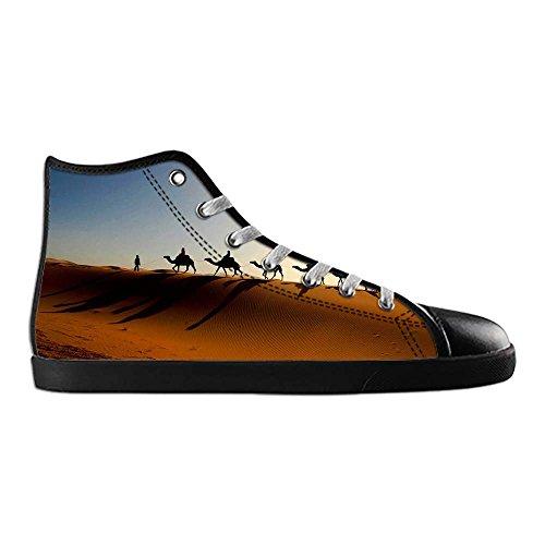 Dalliy sch?ne w¨¹stenlandschaft Men's Canvas shoes Schuhe Lace-up High-top Sneakers Segeltuchschuhe Leinwand-Schuh-Turnschuhe B