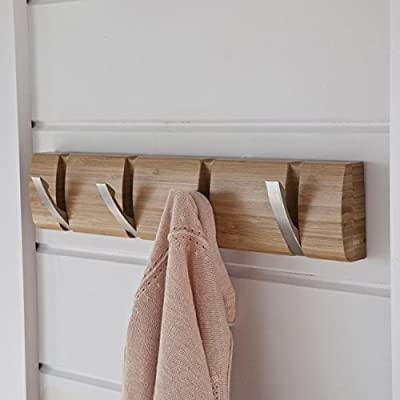 La Redoute Interieurs Bamboo 4-Hook Wall-Mounted Coat Rack - inexpensive UK wall light store.