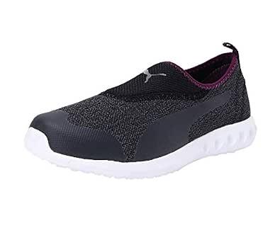 Puma Women's Concave 3 Mu Slip-On Wn S Castlerock-Plu Plum Purple White Running Shoes-3 UK (35.5 EU) (4 US) (19335501)