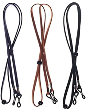 sumaju soporte para gafas, diseño de cadena, 3piezas Piel sintética correa de soporte para gafas, diseño de Classic...