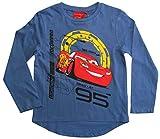 Disney Cars 3 Langarmshirt Lightning McQueen Jungen (Blau, 116)