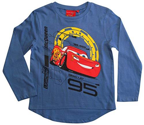 Disney Cars 3 Langarmshirt Lightning McQueen Jungen (Blau, 98)