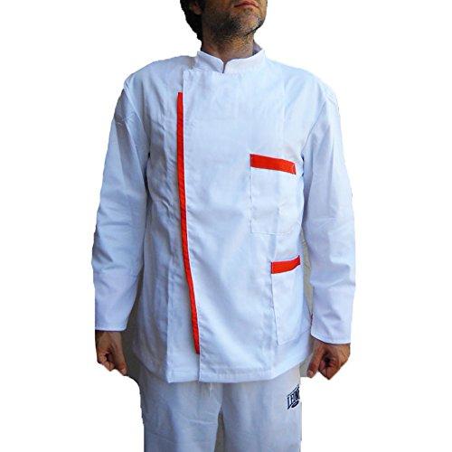 Fratelliditalia giacca divisa bar lavoro cuoco barbiere parrucchiere cameriere chef operaio uomo