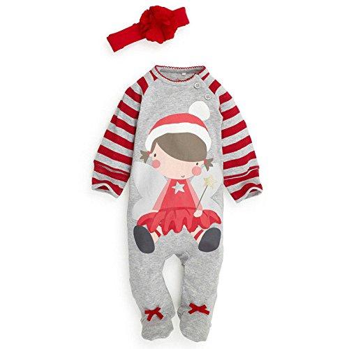 Weihnachten Boys Girls Baby Baby Strampler Kleidung Hut Kostüm Outfits Weihnachten Unisex, Mädchen: 0-6 Monate DHY