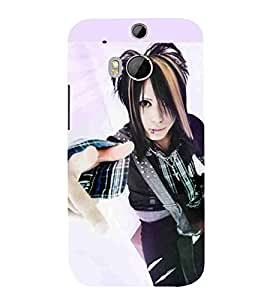 For HTC One M8 :: HTC M8 :: HTC One M8 Eye :: HTC One M8 Dual Sim :: HTC One M8s Cartoon, Black, Cartoon and Animation, Printed Designer Back Case Cover By CHAPLOOS