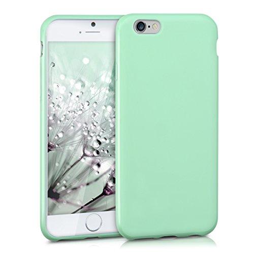 Kwmobile apple iphone 6 / 6s cover - custodia per apple iphone 6 / 6s in silicone tpu - backcover protezione menta matt
