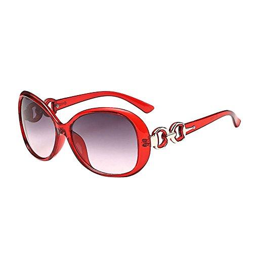 Honestyi Mode Frauen Männer Doppel Ring Dekoration Shades Sonnenbrille Integrierte UV Gläser 9509 Neutral Doppelring Dekorative UV