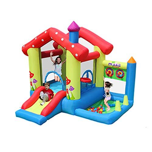 XGYUII Kinder Hüpfburg Home Toy House Vergnügungspark Kleine Trampoline Naughty Castle Wasserrutsche