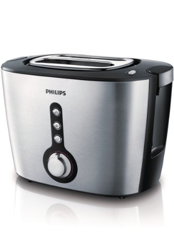 Philips HD2636/20 Toaster Viva Collection / Edelstahl/schwarz