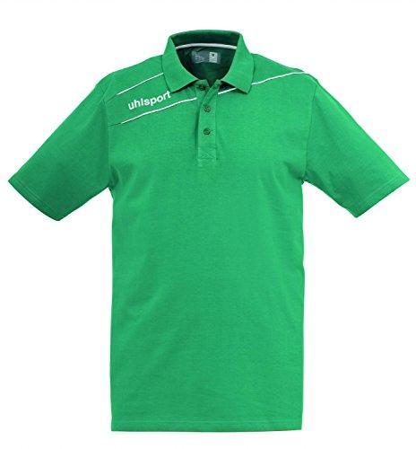 Uhlsport-Polo Stream 3.0, Unisex, Bekleidung Stream 3.0 Polo Shirt, laguna / bianco, XXS