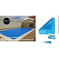 Copertura Termale Per piscina 6x16 Geo 400μ Bubble (con cimosa ai lati stretti + occhielli in acciaio inox + pretensionatori agli angoli)