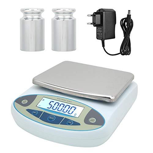 Digital Analytical Electronic Balance Laborwaage Schmuck Küchenwaage 100-240V für wissenschaftliche Forschung, Schule, Industrie, Landwirtschaft, Handel(EU Plug)