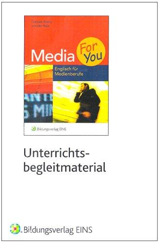 Media 4 U. Unterrichtsbegleitmaterial. CD-ROM ab Windows 95. Englisch für Medienberufe  (Lernmaterialien)