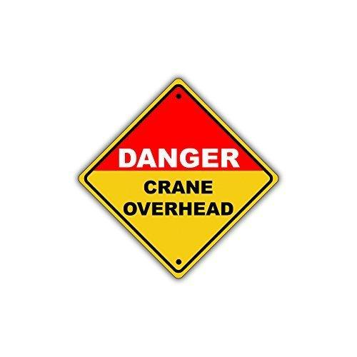 Monsety Retro-Metallschilder Danger Crane Overhead Hazard Blech Schild Geschenk Home Street Garage Tür Decor -