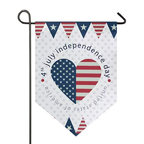 SENNSEE Hausflagge Amerikanische Flagge Unabhängigkeit Tag Garten Flagge 30,5 x 45,7 cm doppelseitig dekorative Hofflagge für Zuhause Dekoration Outdoor, Polyester, Multi, 12x18.5