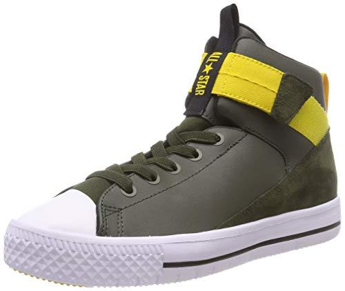 Converse Unisex-Kinder Chuck Taylor All Star HIGH Street LITE Hohe Sneaker, Grün (Utility Green/White 342), 33 EU (Gelbe High Top Converse)
