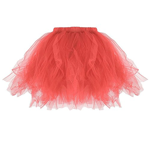 YWLINK Damen Tutu Plissee MiniröCke Crinoline Ballet Tanzkleid Unterrock Petticoat Retro Karneval Party TüLlrock Damenrock Rockabilly Kleid