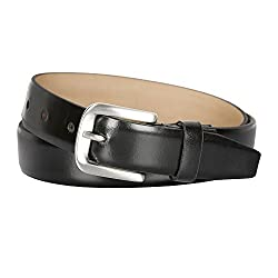 Kara Black Color Genuine Leather Semi Formal Belt For Men (44)
