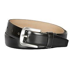 Kara Black Color Genuine Leather Belts For Men (36)