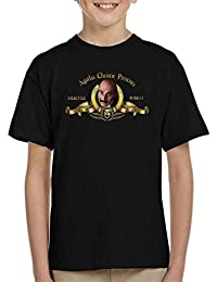 Coto7 Agatha Christie Presents hercule Poirot Metro goldwyn Mayer Lion Kid's T-Shirt
