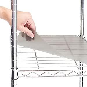 Callas Shelf Polyester PP Mat, 75x35cm (White) - Set of 4