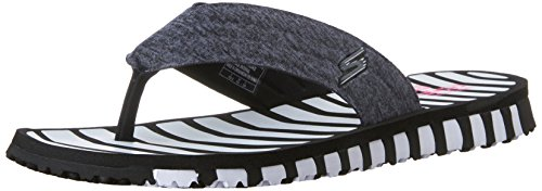 Skechers Go Flex-Vitality 14258/BKW Damen Pantolette bis 30mm Absatz, Größe 38.0