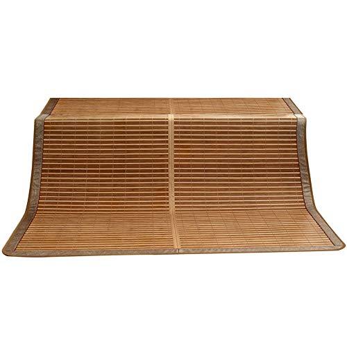 Bambus Matratzen Bettmatte Bambus Matratzen Sommer-Schlafmatten Strohmatte Teppiche Doppelseitige Verwendung Falten Zuhause Schlafzimmer Bettbezüge 1,2/1,5/1,8 M (Size : 1.2x1.95m) (Teppich Bambus 5x8)