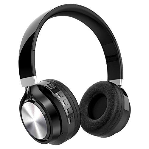 Auriculares Diadema Auriculares Bluetooth Inalámbricos, NickSea Auriculares Plegables con Función 4 en 1 Cascos Bluetooth con Sonido HD y Estéreo Larga Reproducción de Música para IOS y Android