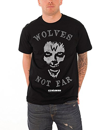 the-walking-dead-t-shirt-herren-schwarz-wolves-not-far-zombie-nue-offiziell