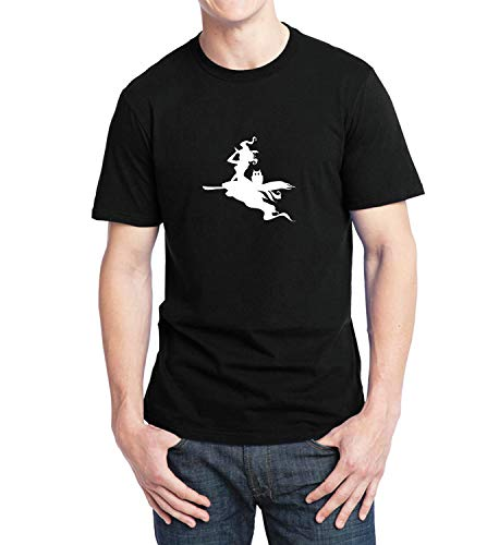 Halloween Witch Flight Shadow_007282 T-Shirt Tshirt Man's Mens Gift Xmas XL T Shirt Black