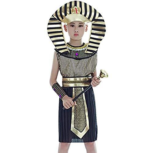 Ägyptische Kostüm Boy - Ägyptische Outfit mit Kostüm Kinder Kopfbedeckung Armcuffs Gürtel
