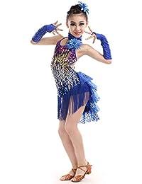 Magogo Vestidos de Baile Latino Falda Swallowtail para niñas 1078022d363